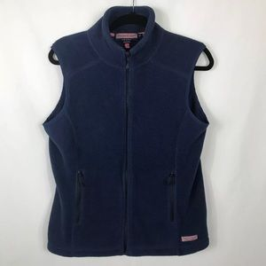 VINEYARD VINES FULL ZIP VEST BLUE SZ M